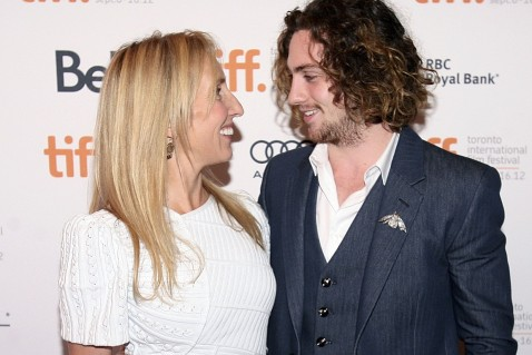 Actor Aaron Taylor Johnson And His Wife Sam Taylor Wood Pose At The Gala Presentation For The Film Anna Karenina At The Th Toronto International Film Festival Aaron Taylor Johnson And Sam Taylor Wood