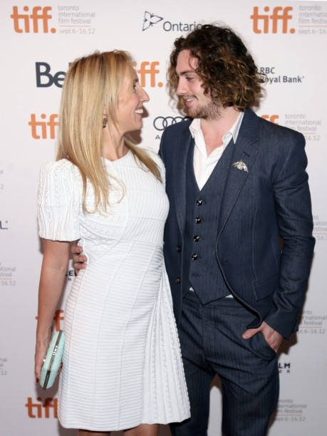 Actor Aaron Taylor Johnson And His Wife Sam Taylor Wood Pose At The Gala Presentation For The Film Anna Karenina At The Th Toronto International Film Festival September