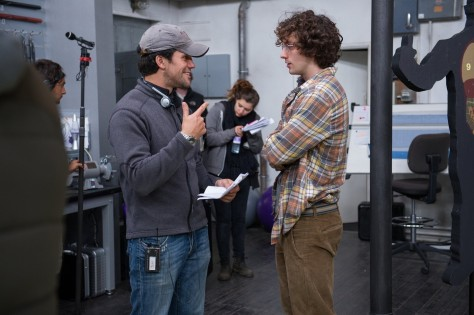 Director Jeff Wadlow Aaron Taylor Johnson Set Kick Ass