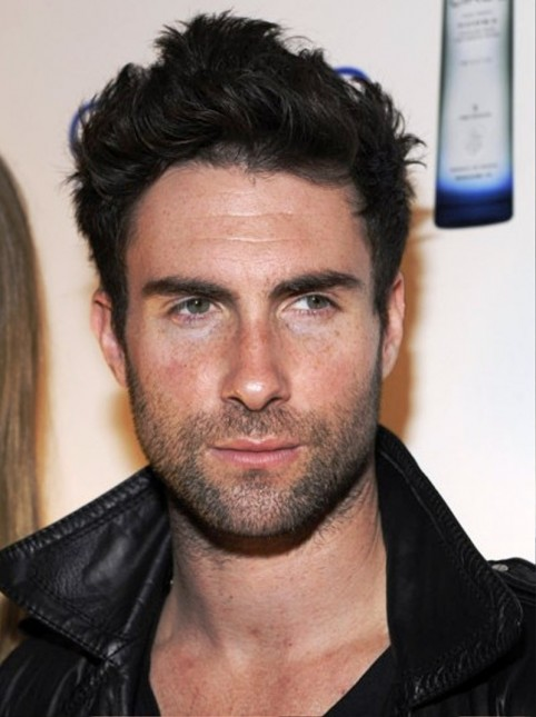Adam Levine Messy Hairstyle Haircut