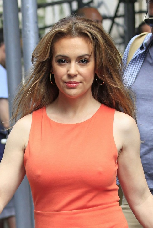 Alyssa Milano Out And About In New York