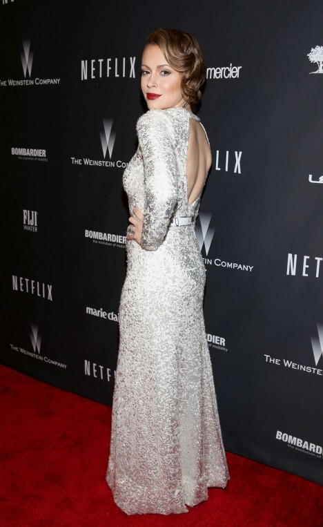 Alyssa Milano The Weinstein Company And Netflix Gg After Party