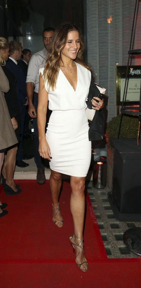 Amanda Byram Entering To Party Hosted By Jonathan Shalit To Celebrate His Obe Beach
