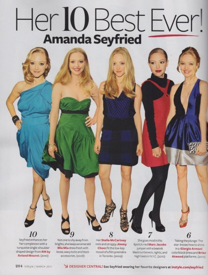Scans From Instyle Magazine March Amanda Seyfried Movies