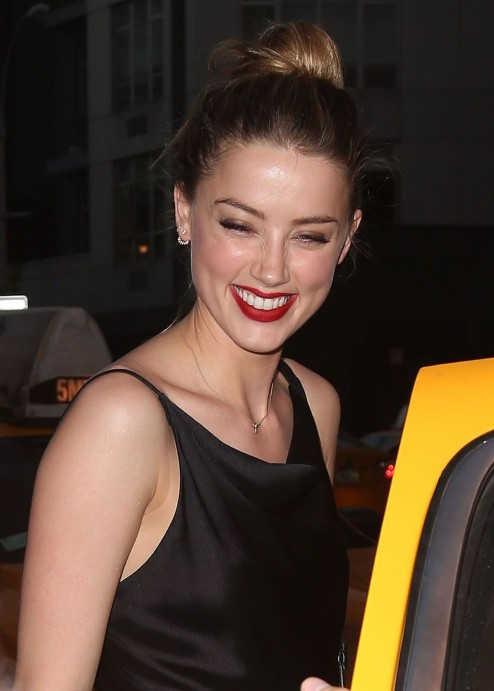 Amber Heard Night Out In New York