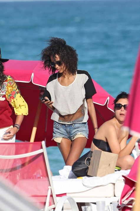 Anais Mali On The Beach In Miami Beach