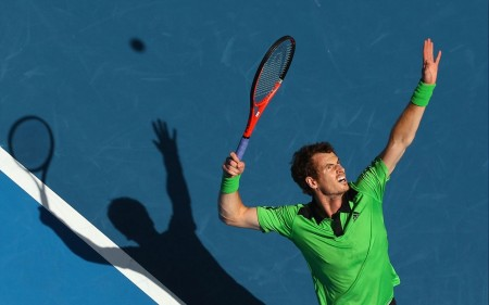 Andy Murray Tenista Jugando Tennis Wallpaper