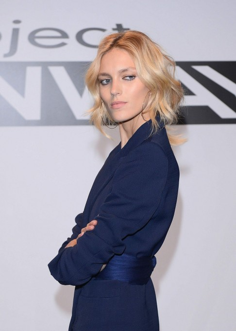 Anja Rubik At The Project Runway Photocall In Warsaw
