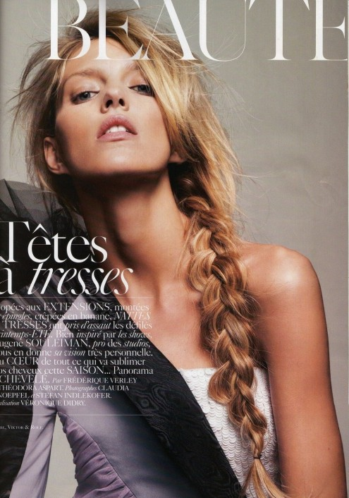 Anja Rubik Beauty Braid Editorial Fashion Favimcom Fashion
