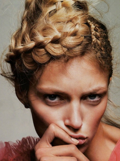 Wpid Anja Rubik Braid Editorial Fashion Fresh Favim Fashion