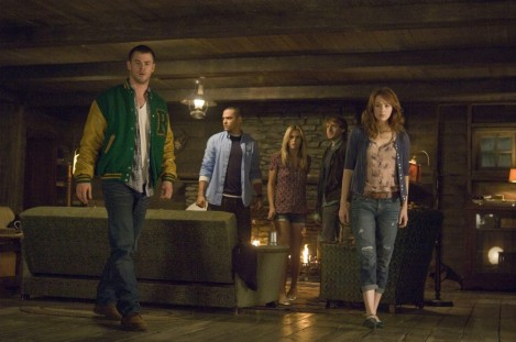 Still Of Anna Hutchison Fran Kranz Chris Hemsworth Kristen Connolly And Jesse Williams In The Cabin In The Woods