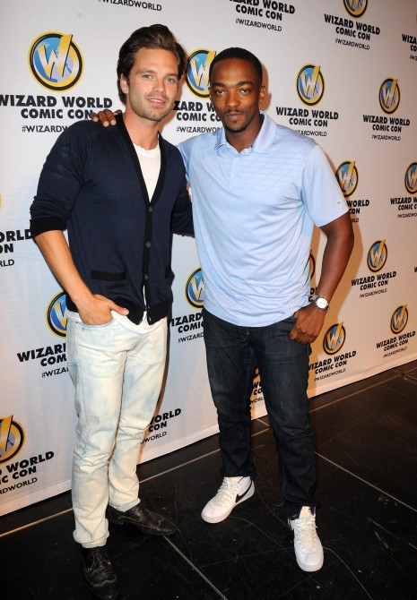 Anthony Mackie And Sebastian Stan Attend Wizard World Philadelphia Comic Con Day Fashion