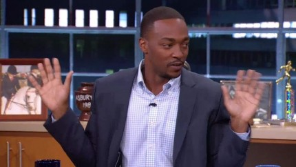 Anthony Mackie Joins Crowd Goes