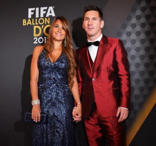 Lionel Messi Et Antonella Roccuzzo Ceremonie Ballon Or