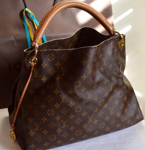 Louis Vuitton Artsy Mm Bag Satchel Brown