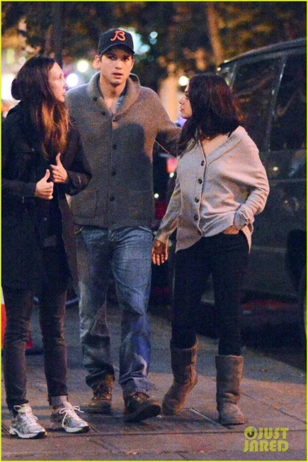 Ashton Kutcher Mila Kunis West Village Dinner Date And Mila Kunis