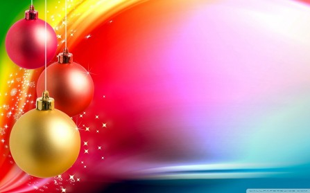 Colorful Christmas Background Wallpaper Wallpaper