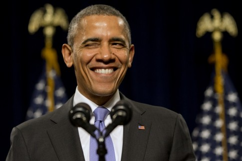 Barack Obama Winking Young