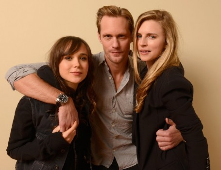 Ellen Page Alexander Skarsgard Brit Marling Posed Hair