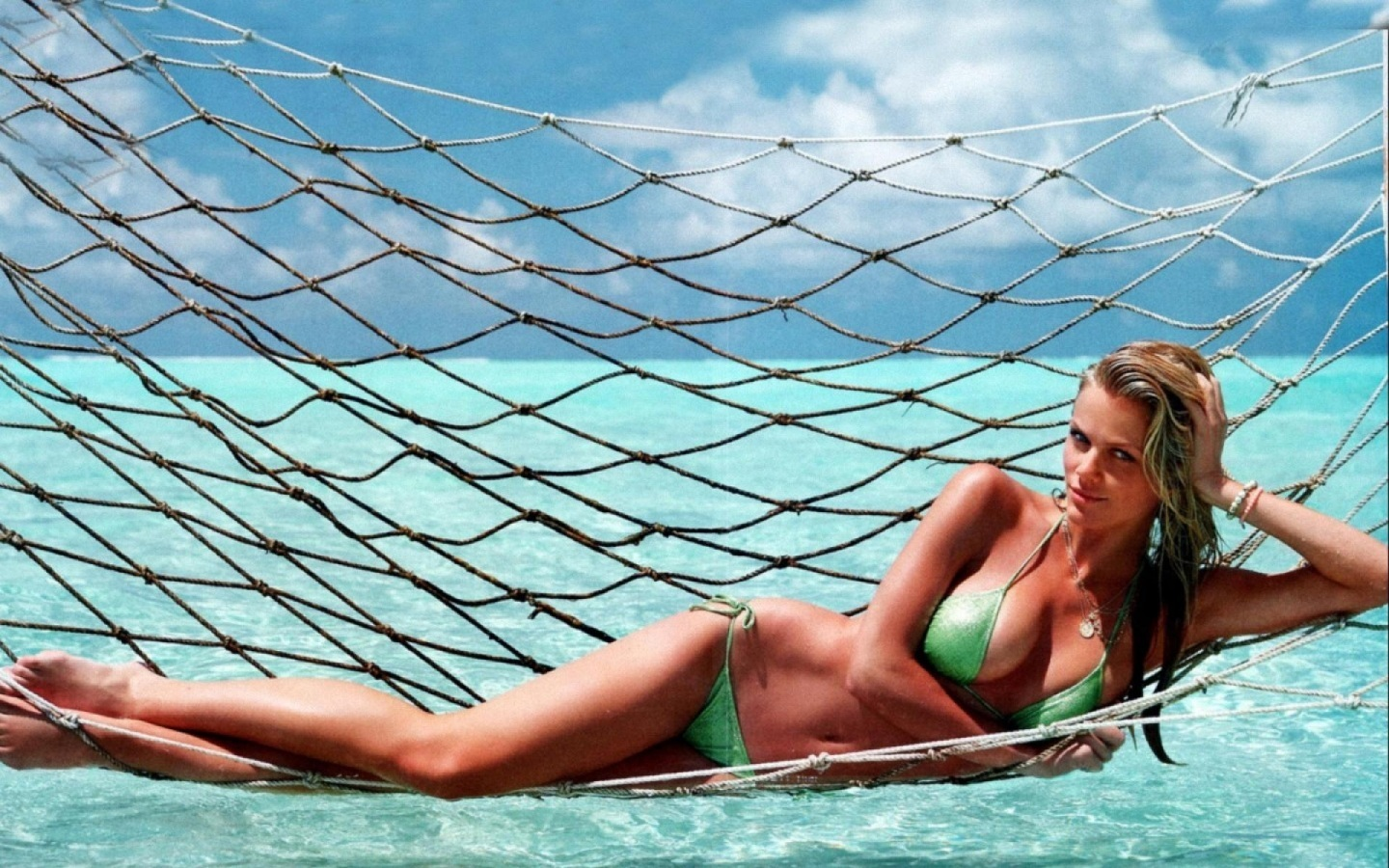 Brooklyn Decker Green Bikini Bikini