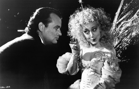 Still Of Bill Murray And Carol Kane In Scrooged