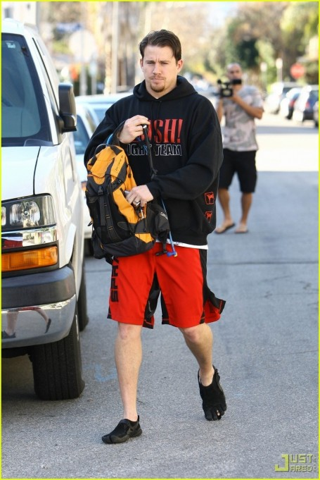 Channing Tatum Workout Gear Five Finger Shoes Fashion