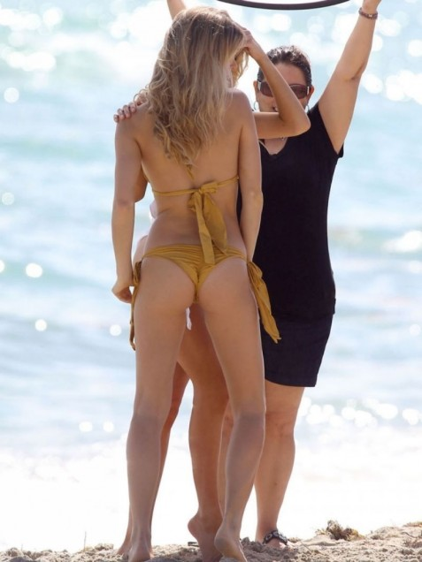 Joy Corrigan Charlotte Mckinney At Summer Loves Bikini Shoot In Miami