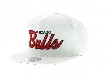Chicago Bulls Nba The Throwbacks All White Snapback By Mitchell And Ness Snapback