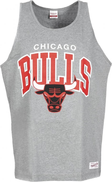 Mitchell And Ness Nba Chicago Bulls Arch Tanktop Gry Zoom Top