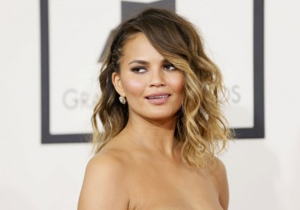Chrissy Teigen At Grammy Awards In Los Angeles