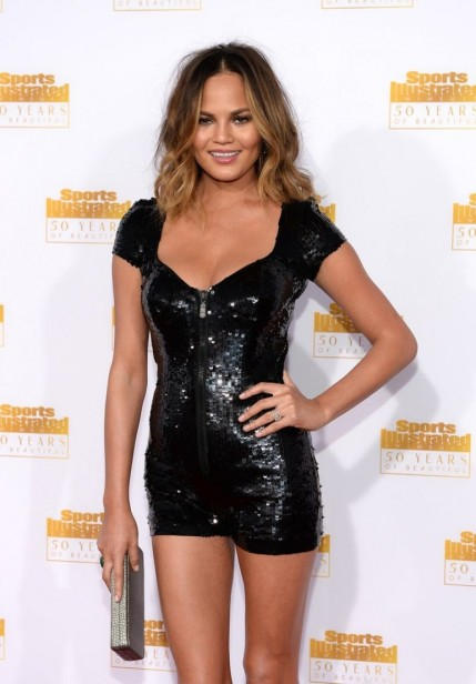 Chrissy Teigen At Si Swimsuit Issue Th Anniversary Celebration In Hollywood