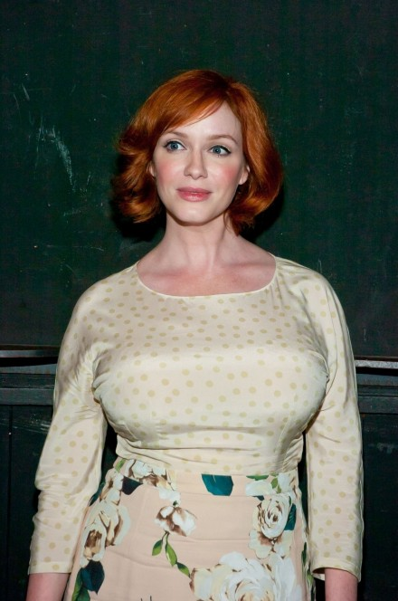 Christina Hendricks At Everything Is Ours Opening Night In New York Beach