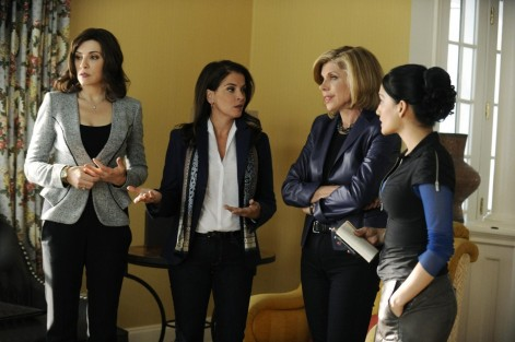 Picture Of Julianna Margulies Annabella Sciorra Christine Baranski And Archie Panjabi In The Good Wife Large Picture The Good Wife
