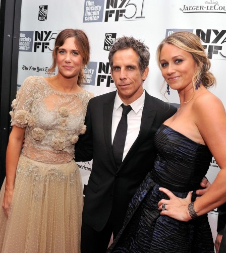 Ben Stiller Christine Taylor And Kristen Wiig At Event Of The Secret Life Of Walter Mitty Large Picture