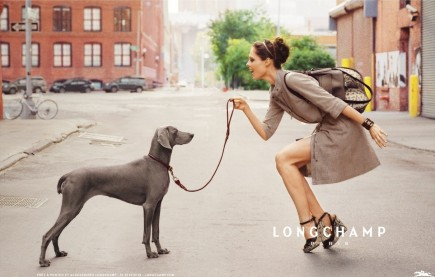 Longchamp Spring Ad Campaign Featuring Coco Rocha Runway