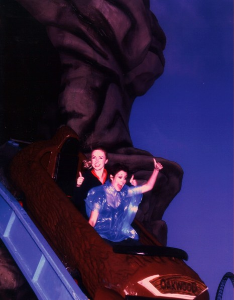 Connie Fisher On The New Skull Rock Ride In Neverland At Oakwood Theme Park