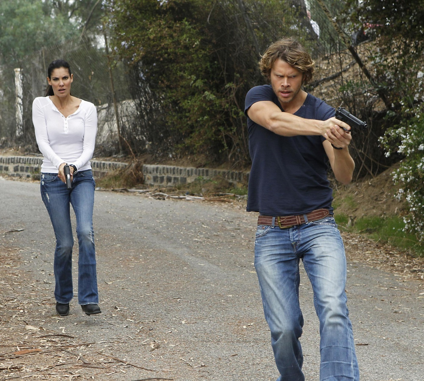 Picture Of Eric Christian Olsen And Daniela Ruah In Ncis Los Angeles Large Picture And Eric Christian Olsen