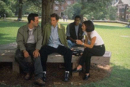 Still Of David Arquette Courteney Cox And Jamie Kennedy In Scream Large Picture Scream
