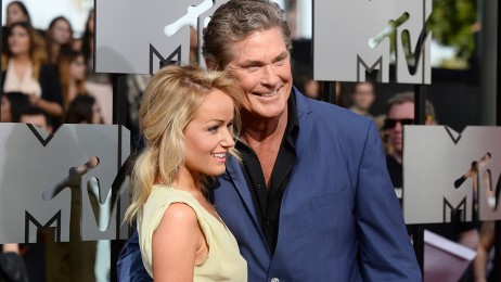 Hayley Roberts David Hasselhoff Arrive At Mtv Movie Awards Girlfriend