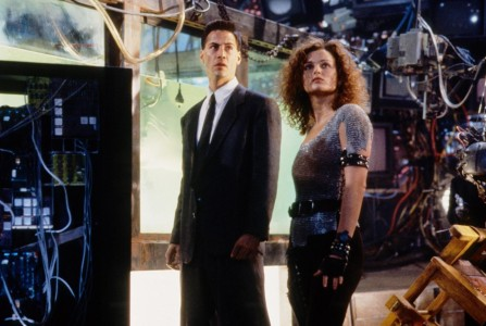 Still Of Keanu Reeves And Dina Meyer In Johnny Mnemonic
