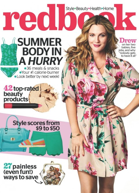Drew Barrymore At The Cover Of Redbook Magazine June Issue