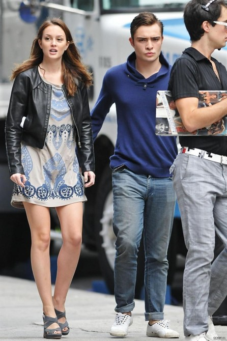 Leighton Meester Et Ed Westwick Le Nouveau Image Article Ajust And Leighton Meester