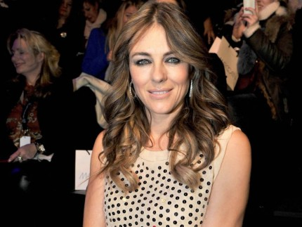 Elizabeth Hurley Au Defile Marc Cain Lors De La Fashion Week Berlin Le Janvier Exact Fashion