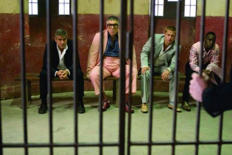 Still Of Brad Pitt George Clooney Don Cheadle And Elliott Gould In Oceans Twelve Large Picture Ocean