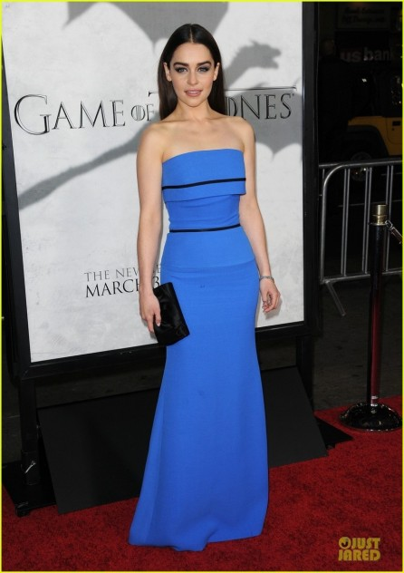 Emilia Clarke Game Of Thrones Season Premiere Party Body