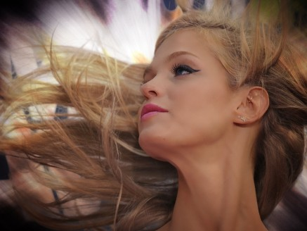 Beautiful Tv Shows Image Erin Heatherton In Dancing Hair Peaceful Facial Expression Hair