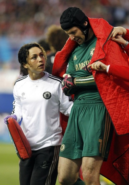 Eva Carneiro And Petr Cech In Chelsea