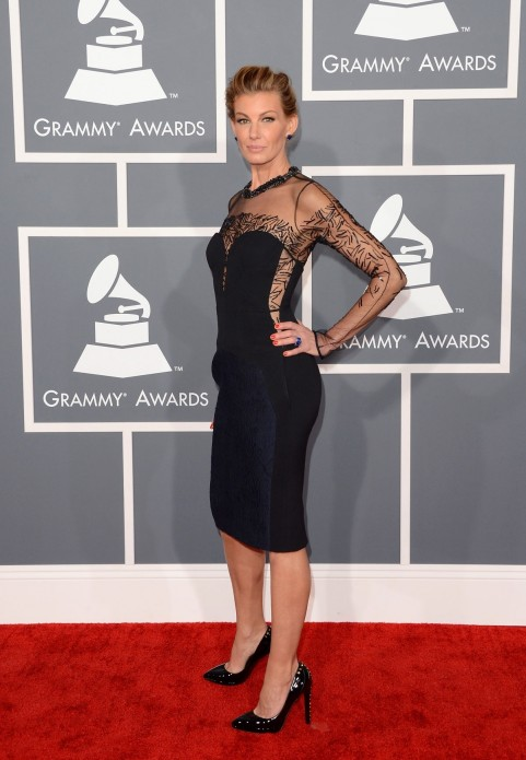 Faith Hill At Th Annual Grammy Awards In Los Angeles
