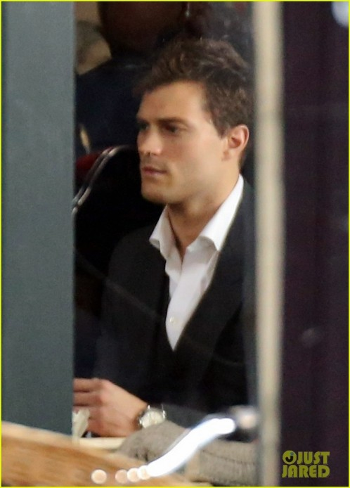 Jamie Dornan Filming Fifty Shades Of Grey First Photos On Set