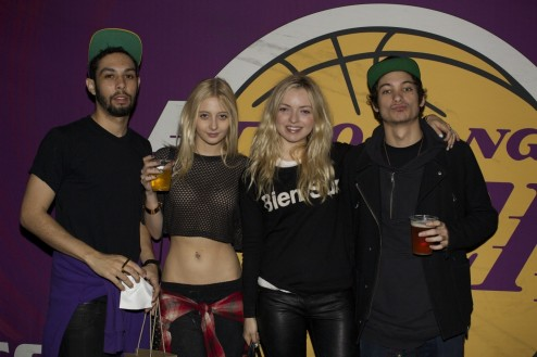Francesca Eastwood And Friends At The Versace Shopping Event Benefiting The Lakers Youth Foundation Staples Center Foundation